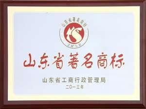 2013山东省著名商标